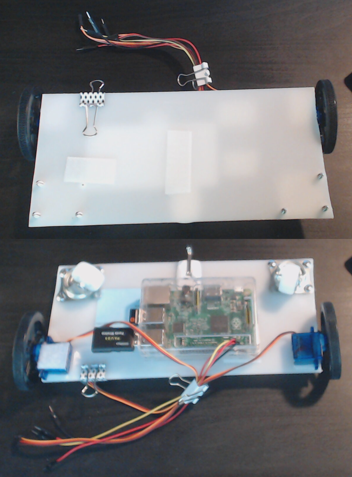 Robot body built with HDPE and other higher quality materials.
